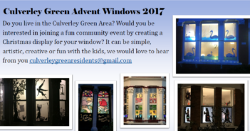 Join The Culverley Green Advent Window Trail