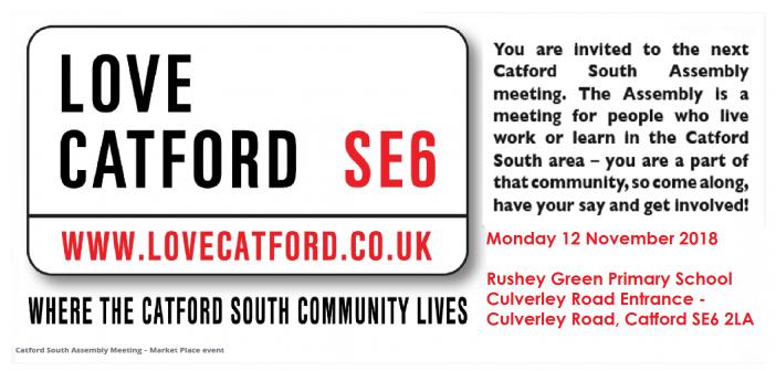 Catford South Local Assembly Meeting – 12 November 2018